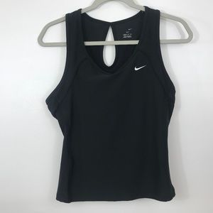 Nike Dri-Fit Tank Sport Bra Black Large
